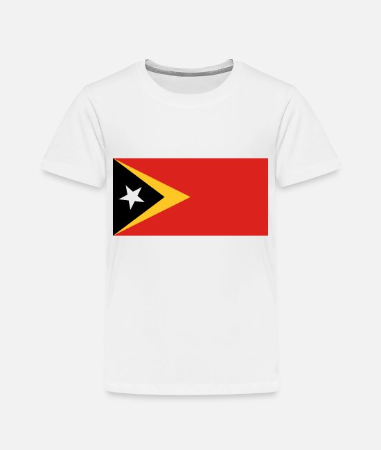Love T-Shirts - East Timor country flag love my land patriot - Toddler Premium T-Shirt white
