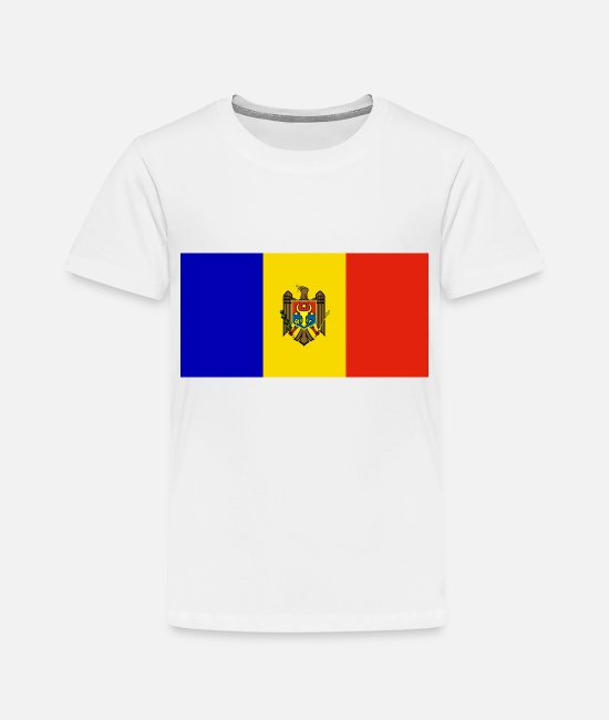 National T-Shirts - Moldova country flag love my land patriot - Toddler Premium T-Shirt white