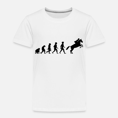 Equitation Evolution Horses Riding Harness Racing Equitation - Toddler Premium T-Shirt