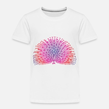 Bright Colors Bright Colorful Peacock - Toddler Premium T-Shirt