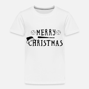 Softball Christmas Baseball Softball Batter Present - Toddler Premium T-Shirt