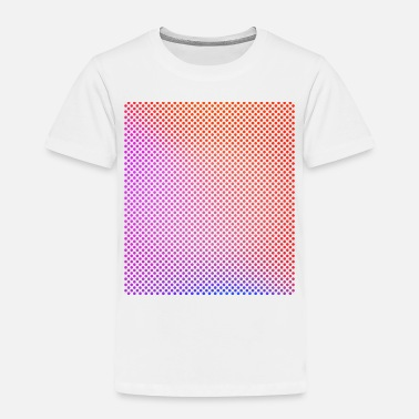 Bright Colours Bright, colourful circles in rows - Toddler Premium T-Shirt