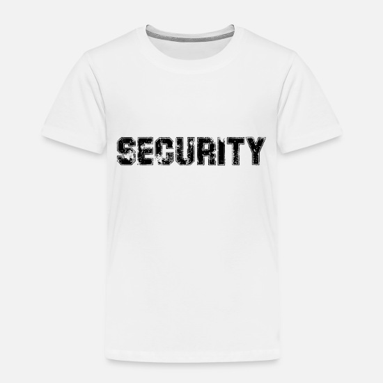 Watcher Baby Clothing - Security - Bodyguard - Toddler Premium T-Shirt white