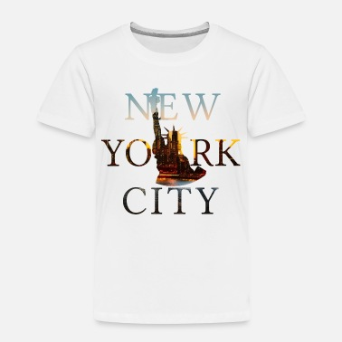 Manhattan New York, New York City, NYC, Lady Liberty, Statue - Toddler Premium T-Shirt
