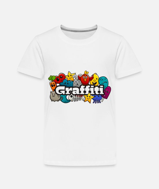 Rap Baby Clothing - Graffiti - Toddler Premium T-Shirt white