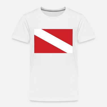 Buceo DIVE FLAG Diving/Tauchen/busseig/Mergulho/Buceo - Toddler Premium T-Shirt