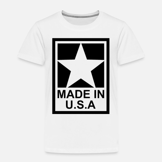 American Football Baby Clothing - Made in USA - Lone Star - United States of America - Toddler Premium T-Shirt white