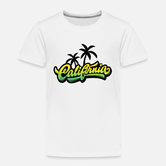 Palm Baby Clothing - California Palm - Toddler Premium T-Shirt white