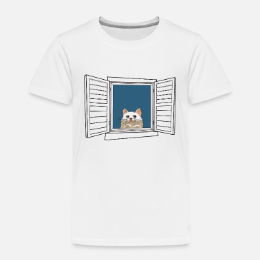 Windows Kitten in the window - Toddler Premium T-Shirt