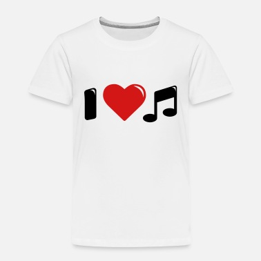 I Love Music I love music - i heart music - Toddler Premium T-Shirt