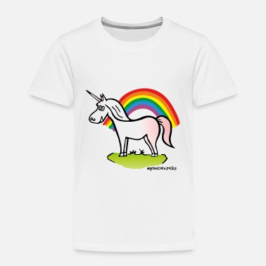 Rainbows And Unicorns Cute Unicorn and Rainbow - Toddler Premium T-Shirt