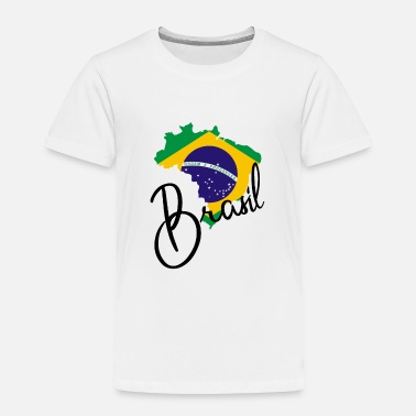 National Colours Brasil - Map - National Colours - Flag - Rio - Toddler Premium T-Shirt