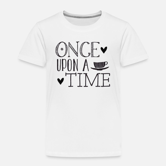 Magic Baby Clothing - Once upon a time with a tea cup hearts - Toddler Premium T-Shirt white