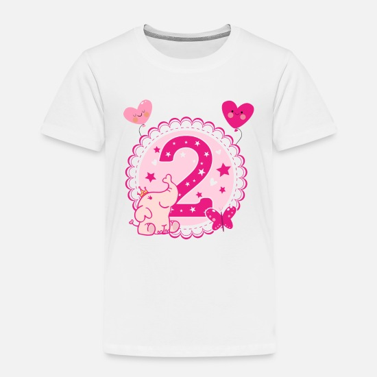 645e033d Kid Baby Clothing - Second Birthday girl 2nd happy birthday gift niece -  Toddler Premium T