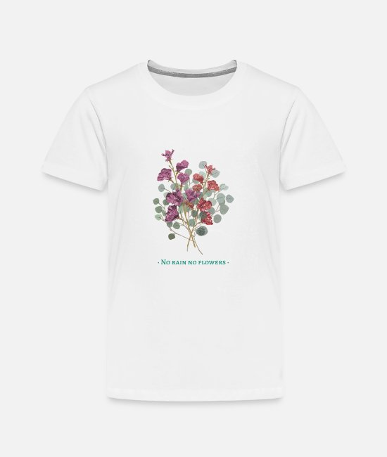 Woman Baby Clothing - art life rain flowers motivation woman gift idea - Toddler Premium T-Shirt white