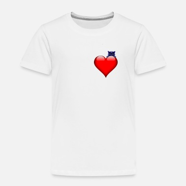 Fur Cat Heart On Right Place - Toddler Premium T-Shirt