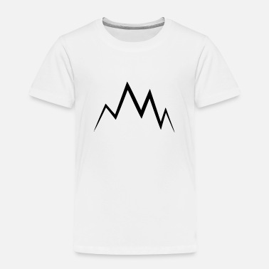 Mountains Mountain symbol mountaineer climber mountains - Toddler Premium T-Shirt