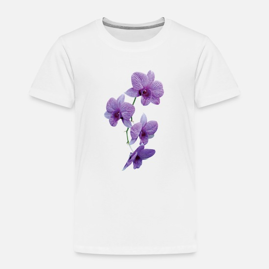 Orchid Baby Clothing - Cascade of Purple Orchids - Toddler Premium T-Shirt white