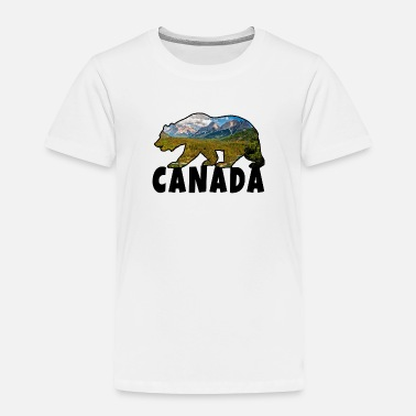 Canada Canada Bear with Landscape / Gift North America - Toddler Premium T-Shirt