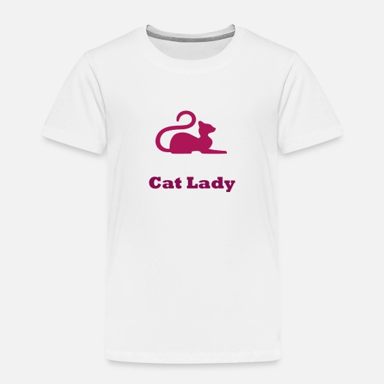Girl Baby Clothing - Cat Lady - Toddler Premium T-Shirt white