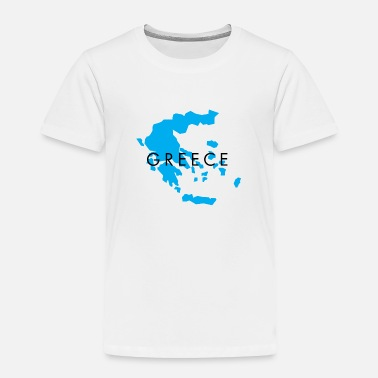 Attractive Greece Map Design for Men, Women and Kids - Toddler Premium T-Shirt