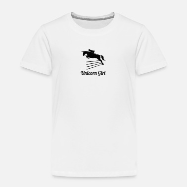 Show Jumping Unicorn Girl Show Jumping - Toddler Premium T-Shirt