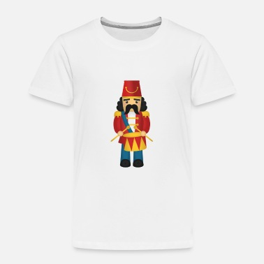 Yellow cute nutcracker like soldier with drums - Toddler Premium T-Shirt