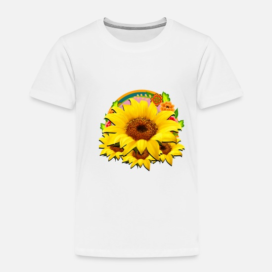 Spring Baby Clothing - Flowers - Toddler Premium T-Shirt white