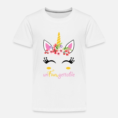 UnFourgettable Unicorn 4th Birthday Shirt By T Expert