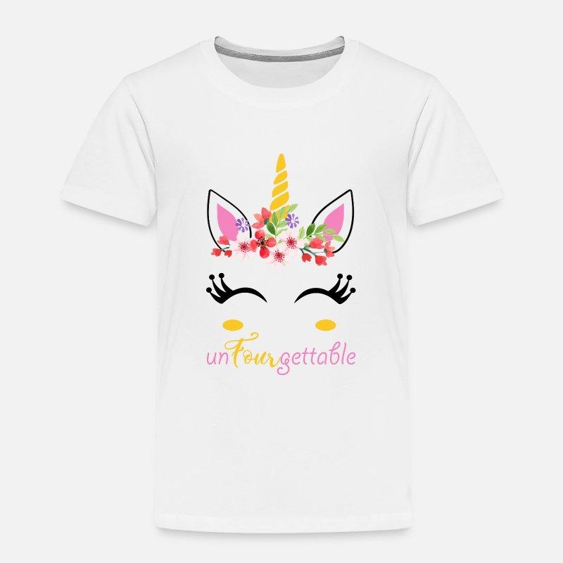 UnFourgettable Unicorn 4th Birthday Shirt Toddler Premium T