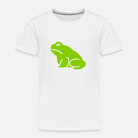 Toad Baby Clothing - Big Toad Silhouette - Toddler Premium T-Shirt white