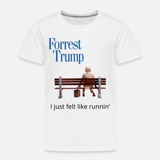 Funny Baby Clothing - Forrest Trump - Toddler Premium T-Shirt white