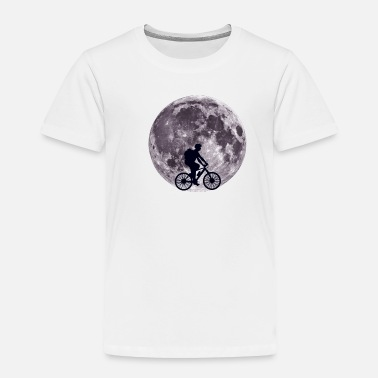Wheel Moon Biking - Bike, Bicycle, Cycling - D3 Designs - Toddler Premium T-Shirt