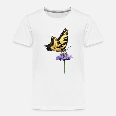 Flowers Tiger Swallowtail on Aster - Toddler Premium T-Shirt