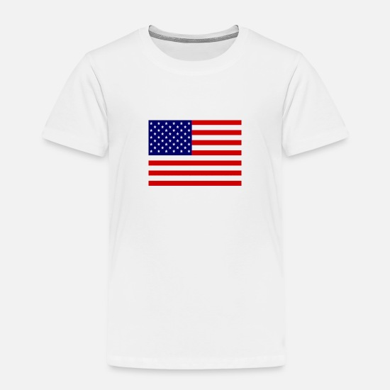 Flag Baby Clothing - American Flag - Toddler Premium T-Shirt white
