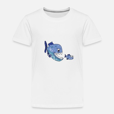 Piranha Retro Vintage Grunge Style Piranhas Fishing - Toddler Premium T-Shirt