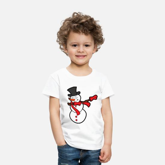 Christmas Baby Clothing - Merry Christmas Holidays Xmas Dabbing Dab Snowman - Toddler Premium T-Shirt white