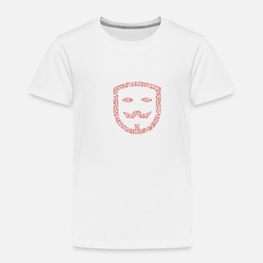 Anonymous Binary Guy-fawkes-mask Wordcloud (red) - Toddler Premium T-Shirt
