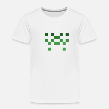 Wide Receiver Invader from Space: 8-bit, short, slim UFO - Toddler Premium T-Shirt