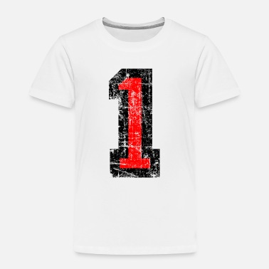 Old Number 1 One 1st First Birthday Design - Toddler Premium T-Shirt