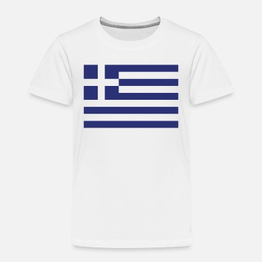 Greece Flag of Greece Cool Greek Flag - Toddler Premium T-Shirt