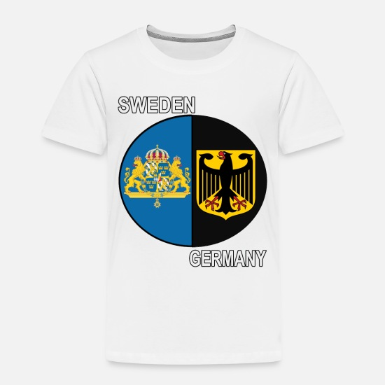 Sweden Baby Clothing - sweden germany crest text - Toddler Premium T-Shirt white