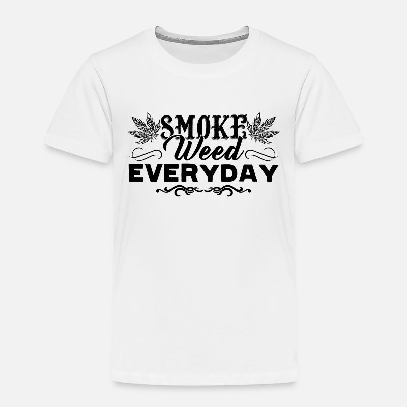 Smoke Weed Everyday Sarcastic Humor Graphic Novelty Funny T Shirt