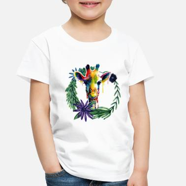 Vintage Giraffe Colorful Shirt - Toddler Premium T-Shirt