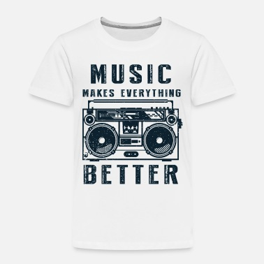 Shouter Music makes everything better old school - Toddler Premium T-Shirt