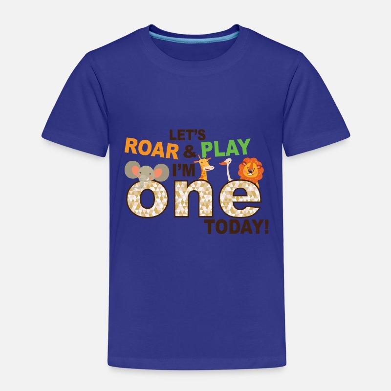 Zoo Jungle Theme First 1st Birthday Shirt Toddler Premium T