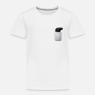 Gamer Controller Gamer Addict Pocket Tee - Toddler Premium T-Shirt