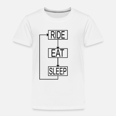 Biker eat sleep ride repeat - Toddler Premium T-Shirt