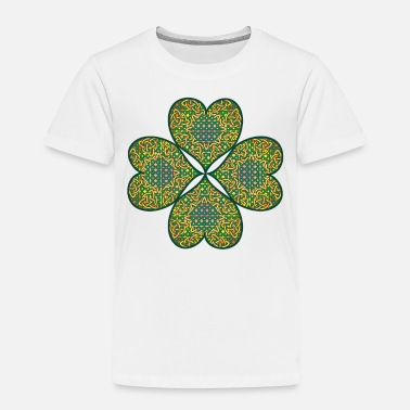 Lucky Charm Lucky Celtic Four Leaf Clover St Patricks Day - Toddler Premium T-Shirt
