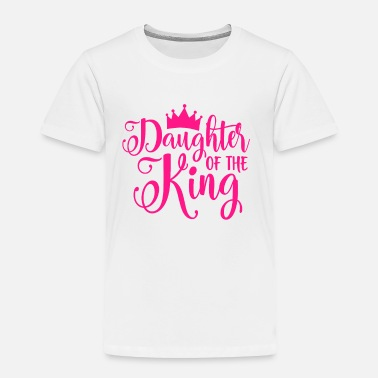 Daughter King's daughter gift crown pink - Toddler Premium T-Shirt